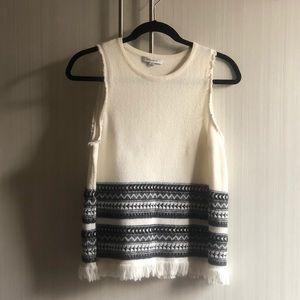 Cream & Black Sweater Tank